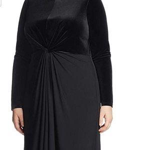 Michael Kors Plus Velvet Knee-Length Dress 3X